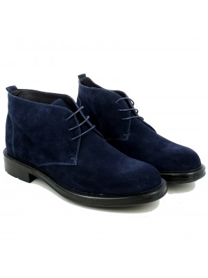 Desert Boot in Velour Blu