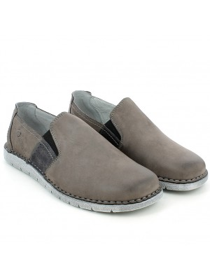Slip-on morbida in pelle piombo
