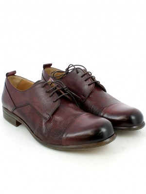Derby in pelle bordeaux