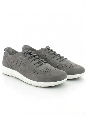 Sneaker Brattley in camoscio Anthracite