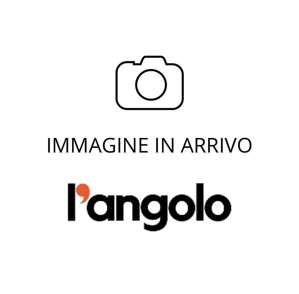 Pantofola in pelle e tessuto grigio con strappo