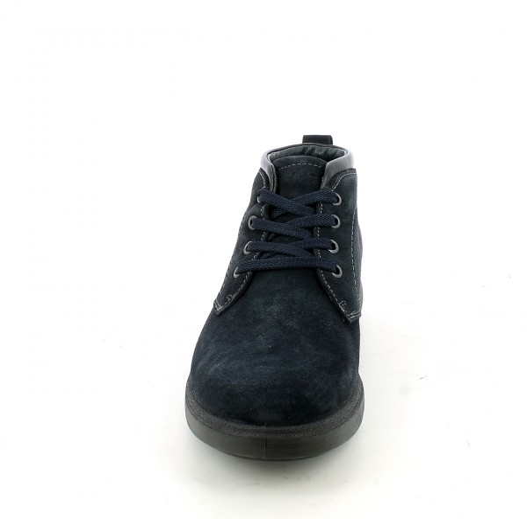 Desert boot in camoscio blu