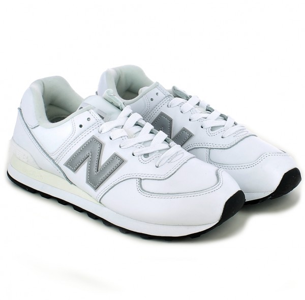new balance 574 bianca uomo