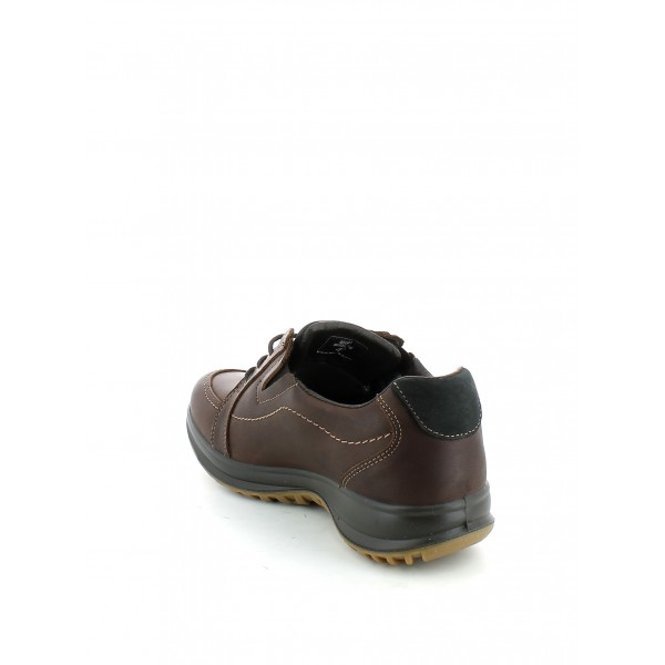 Sneaker in Pelle Marrone Scuro e Gritex