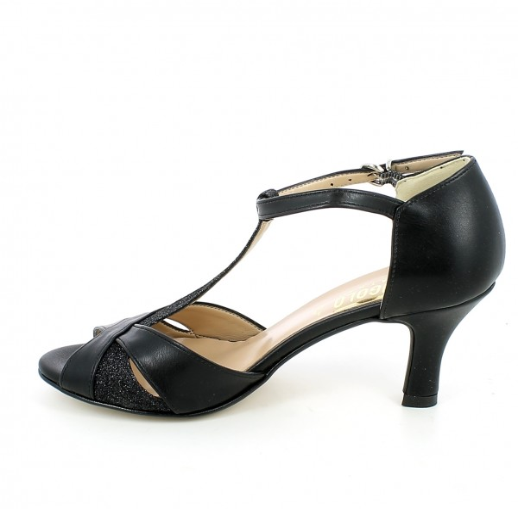 Sandalo da ballo nero con glitter