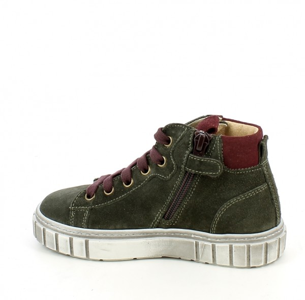 Sneaker alta in camoscio verde