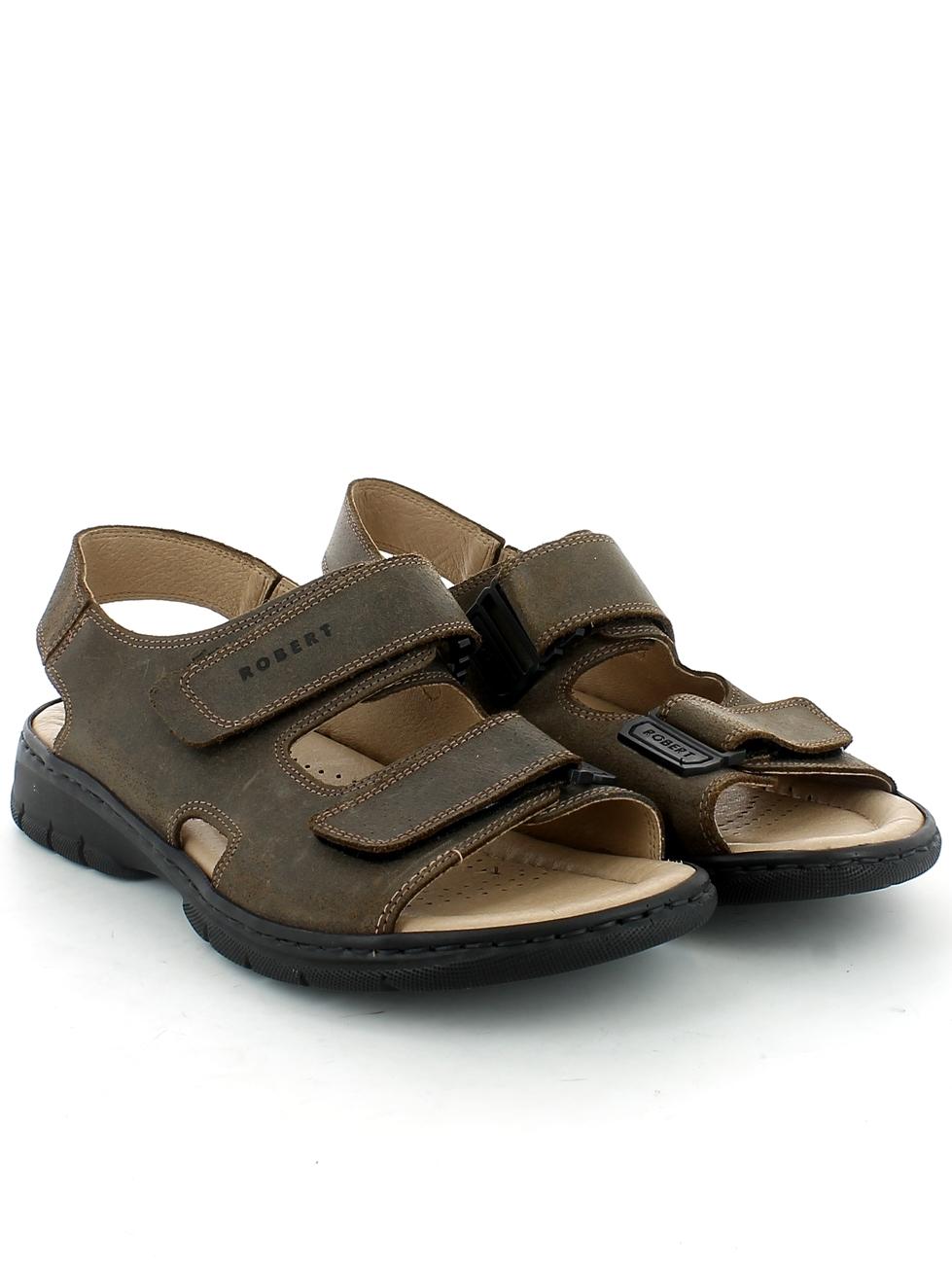Sandalo Strappi Con Marrone Robert Foam E Memory 4CfOq0w0B