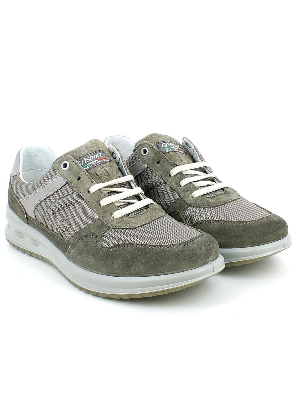 Grisport Camoscio Sneaker In E Marrone Tessuto zw4zqTr